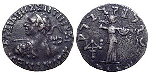 silver drachm of Menander