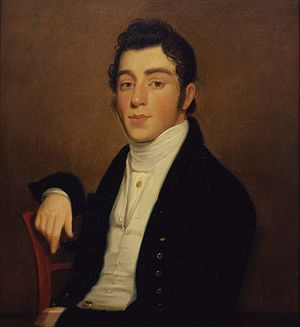 Cohens v. Virginia - 1818 portrait of Mendes J. Cohen by artist Joseph Wood. Smithsonian American Art Museum.