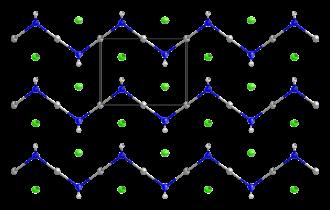 Mercuric amidochloride - Image: Mercuric amidochloride from xtal 2000 3D CM ellipsoids
