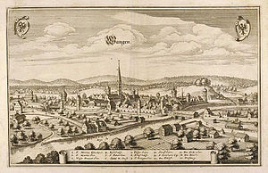 Wangen im Allgäu - A picture of Wangen during the 17th century