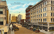 Mesa Avenue, the heart of El Paso, Texas