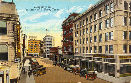 Mesa Avenue, the heart of El Paso, Texas (postcard, circa 1917) Mesa Avenue, the heart of El Paso, Texas.jpg