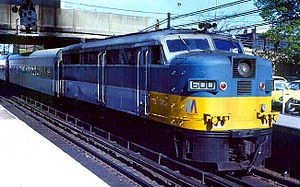 ALCO FA - An ALCO FA-1 operates in LIRR commuter service during the 1970s.