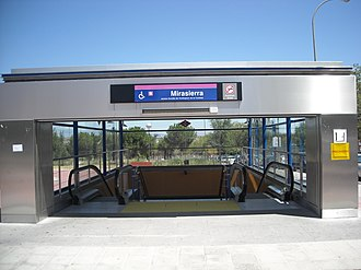 Mirasierra (Madrid Metro) - Image: Metro Line 9
