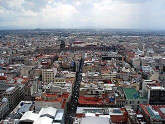 Torre Latinoamericana - Image: Mexico City seen from Torre Latinoamericana
