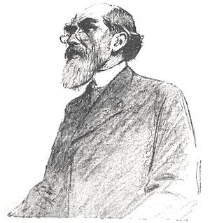 Paul Meyer (philologist) - Paul Meyer at the eight session of the Zola trial. Illustration by Louis Rémy Sabattier for l'''Illustration''