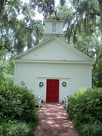 Micanopy, Florida - Image: Micanopy Hist Dist Church 01b