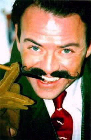 """World Beard and Moustache Championships - Michael """"Atters"""" Attree, Chairman and Compere of the 2007 UK event, sporting his renowned handlebar moustache."""