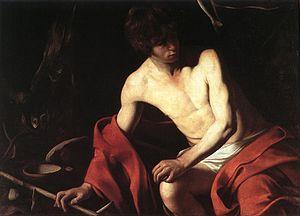 1604 in art - Image: Michelangelo Merisi da Caravaggio St John the Baptist WGA04154