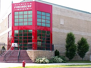 Ypsilanti, Michigan - The new addition to the historic building which houses the Michigan Firehouse Museum was completed in the summer of 2002.