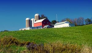 Washington Township, Wyoming County, Pennsylvania - A farm in the township