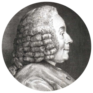 Jean-Jacques d'Ortous de Mairan - Engraving by Simon Charles Miger after Charles-Nicolas Cochin.
