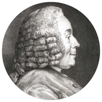 Jean-Jacques d'Ortous de Mairan - Engraving by Simon Charles Miger after Charles-Nicolas Cochin