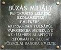 Mihály Búzás plaque Kecskemét Búzás2.jpg