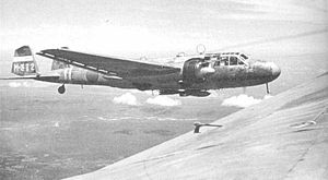 Bombing of Singapore (1941) - Mitsubishi G3M Nell of Mihoro Air Group, carrying bombs externally.