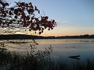 Westborough, Massachusetts - Mill Pond at sunset