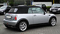 Mini Cooper Cabriolet (R52) – Heckansicht, 13. Juni 2011, Wuppertal.jpg