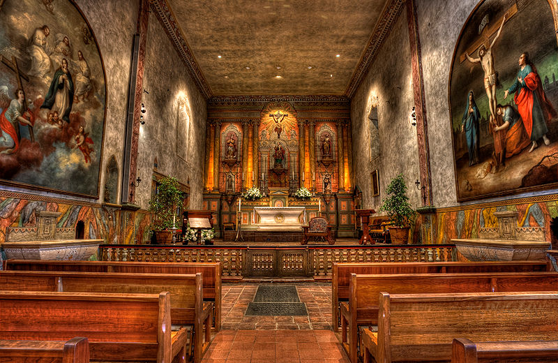 File:Mission Santa Barbara chapel interior.jpg