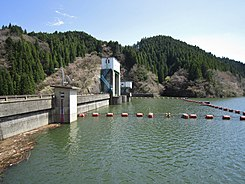 Mizunuma Dam and lake left view.jpg