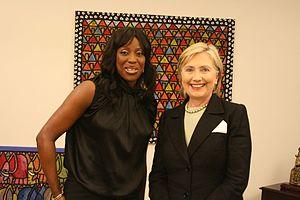 Mo Abudu - Abudu with US Secretary of State Hillary Clinton