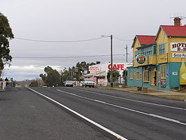 Monaro Highway in Nimmitabel