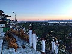 Monks at Kyaikthanlan Pagoda during the sunset.jpg