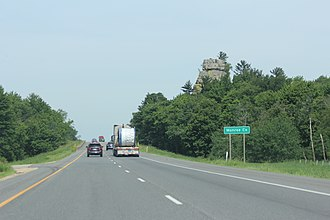 Monroe County, Wisconsin - Monroe County sign on Interstate 90