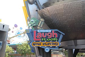 Monsters, Inc. Laugh Floor - Image: Monsters Inc Laugh Floor Sign