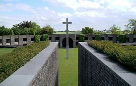 German War Grave of Huisnes-sur-Mer; hosting 11.956 German deads of World War II