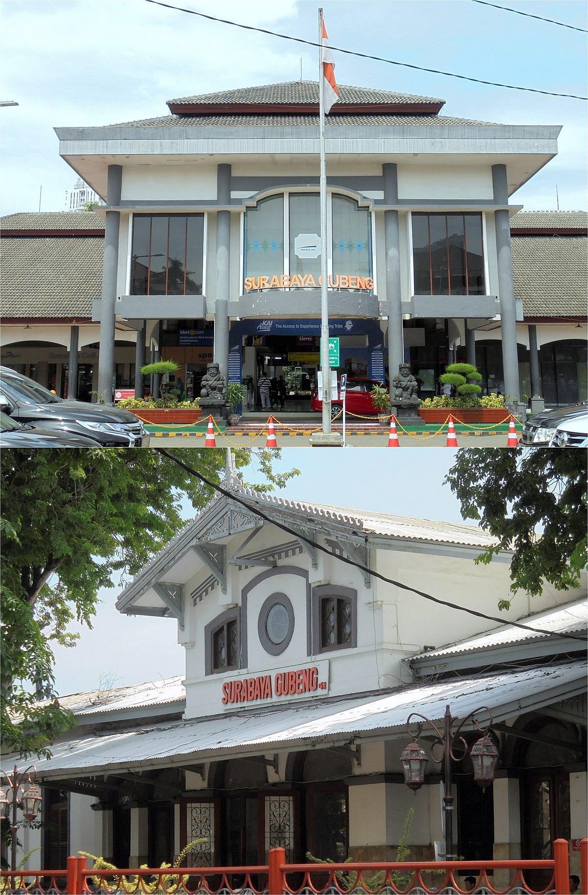 Stasiun Surabaya Gubeng Bahasa Indonesia