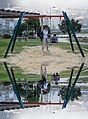 Montage of Jules and Gabriel at a playground, A Guarda, Galicia, Spain (PPL3-Altered) julesvernex2.jpg