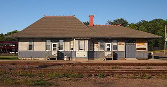 National Register of Historic Places listings in Chippewa County, Minnesota - Image: Montevideo Milwaukee Road Depot