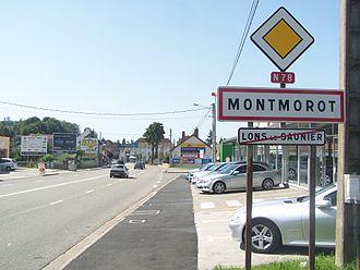 Montmorot - Image: Montmorot (panneau)