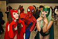 Montreal Comiccon 2016 - Scarlet Witch, Spider-Man and Polaris (27978472900).jpg