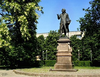 East Prussia - Monument to Immanuel Kant in Kaliningrad