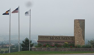 Monument, Colorado - A welcome sign outside of Monument