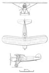 Morane-Saulnier MS.121 3-view L'Aéronautique June,1928.png