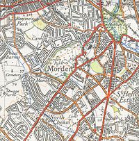 a map of morden from 1944
