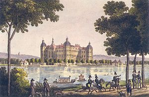 Moritzburg Castle - Moritzburg Castle around 1800