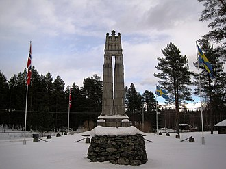 Värmland - The peace monument at Morokulien, raised in 1914 to commemorate 100 years of peace between Sweden and Norway.