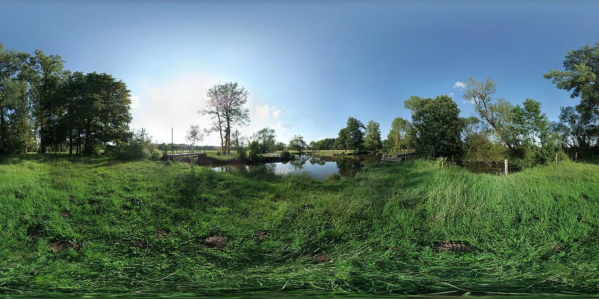 Panoramique à 360° face au Nord de la Mortagne à Magnières (Meurthe-et-Moselle).
