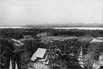 Mawlamyine - Moulmein and the mouth of the Thanlwin River in the early-1900s