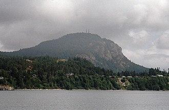 Mount Erie (Washington) - Mount Erie from Burrows Bay