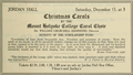 Mount Holyoke College Carol Choir Concert ad, December 15, 1928 in BSO Pamphlet.png