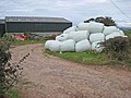 Mountain of bales - geograph.org.uk - 568882.jpg