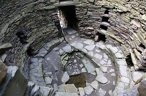 Broch of Mousa - Mousa Broch interior