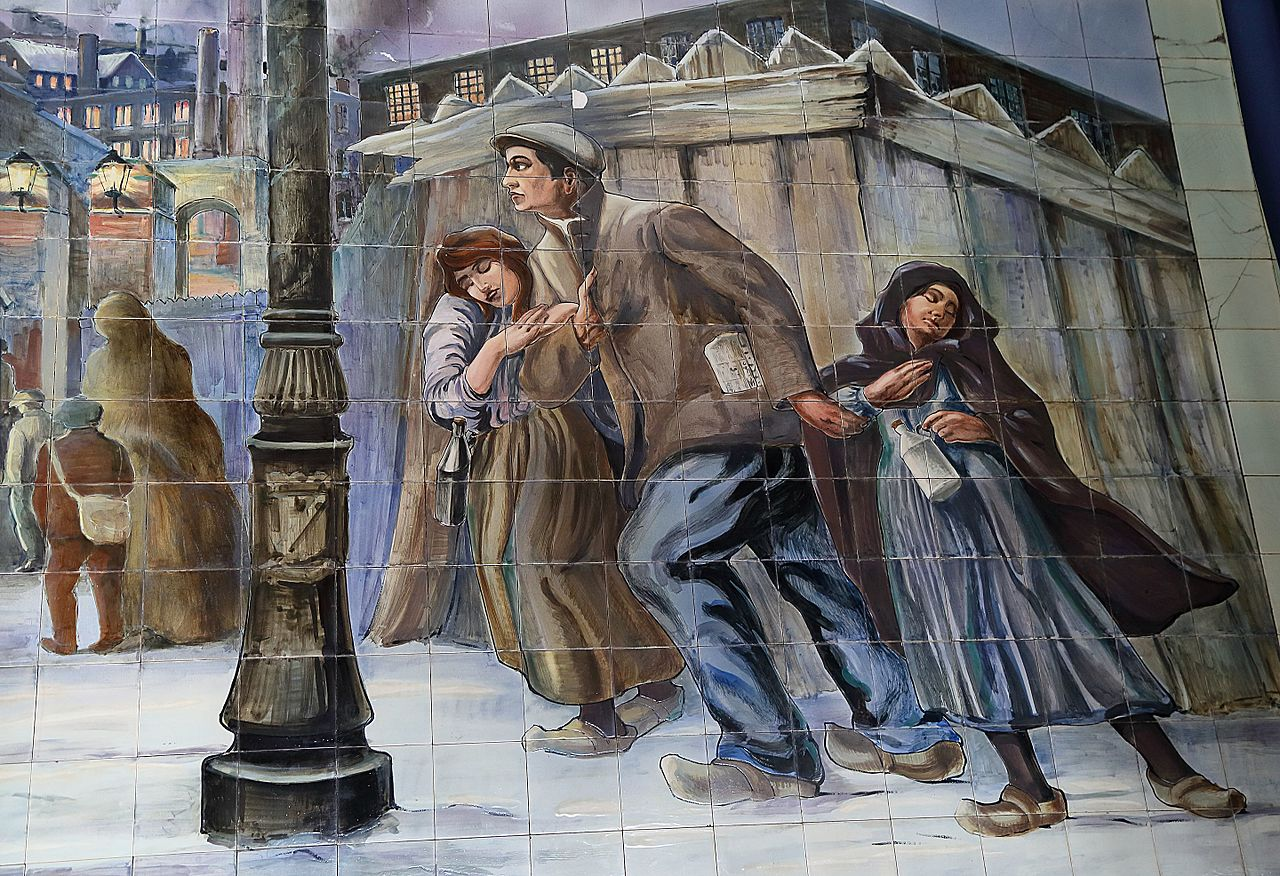 File mouscron fa ences murales wikipedia for Faiences murales