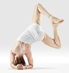 220px Mr yoga sideways bound angle headstand 1 yoga asanas Liste des exercices et position à pratiquer