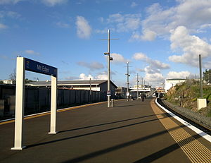 Mount Eden Railway Station - The view of Mt Eden station from the western end of its platform.