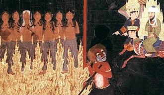 Zabaniyya - Image: Muhammad and hooked women in Hell